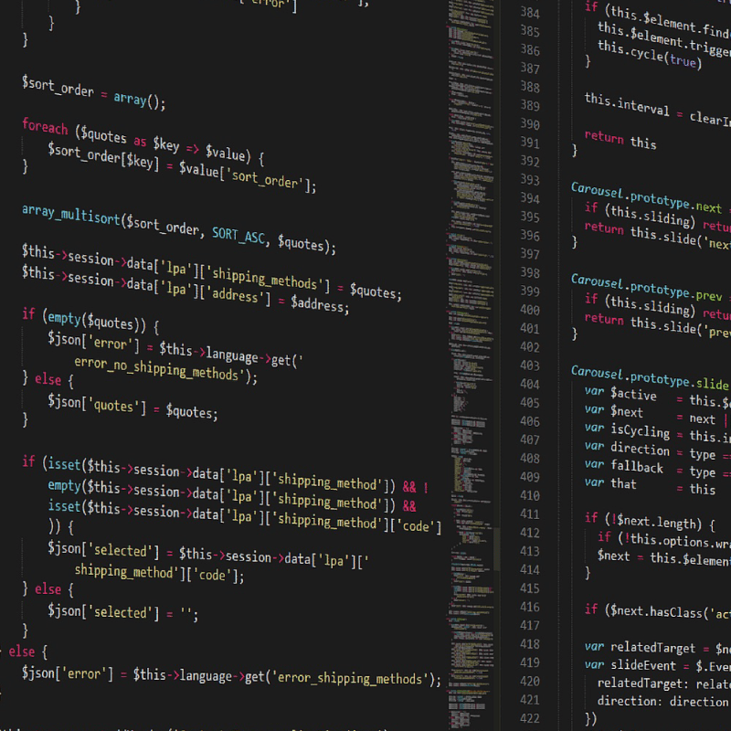 picture of code