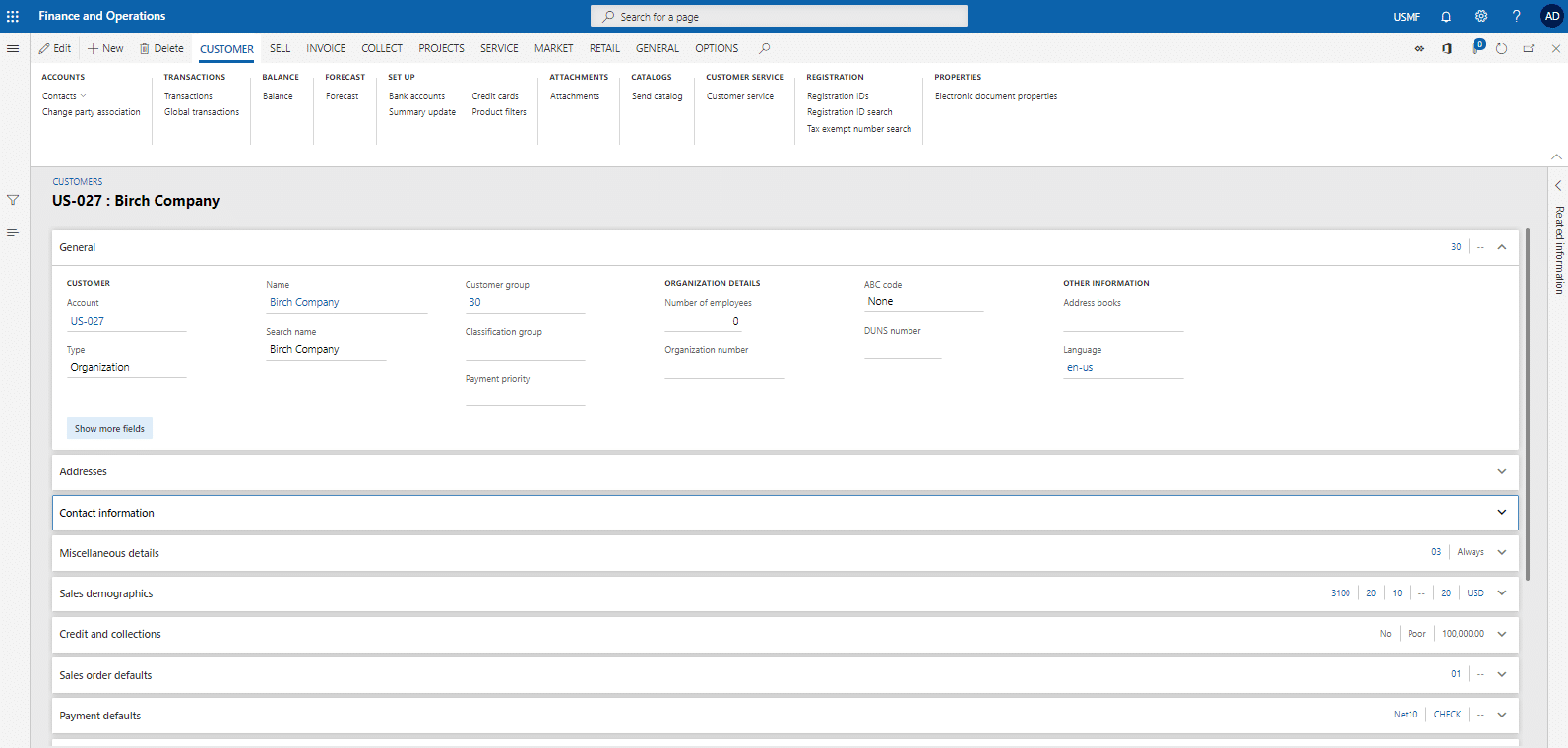 Dynamics 365 for Finance and Operations2